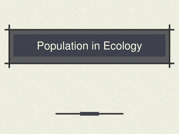 population in ecology n.