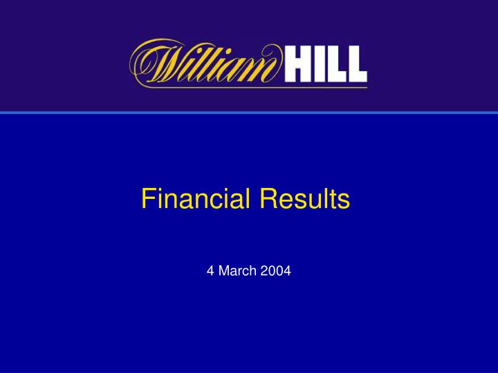 financial results n.