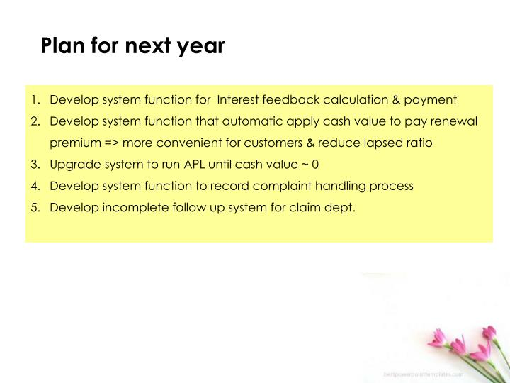Develop system function for  Interest feedback calculation & payment