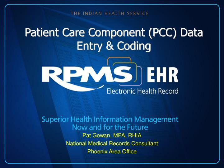 patient care component pcc data entry coding n.