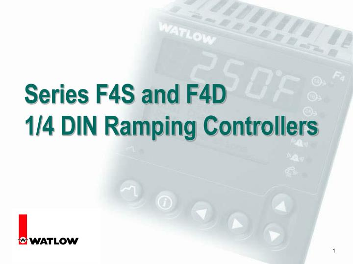 series f4s and f4d 1 4 din ramping controllers n.