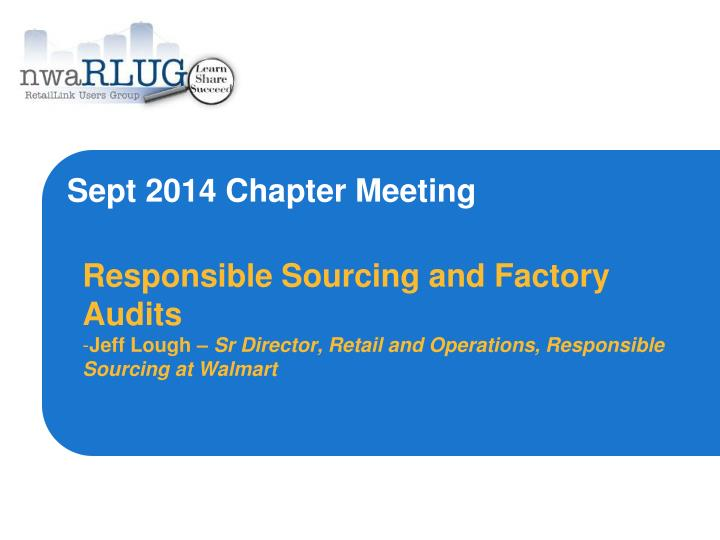 sept 2014 chapter meeting n.