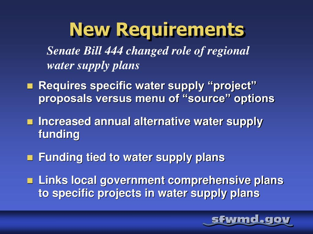 PPT - Status of Regional Water Supply Plan Updates