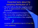 essential facts about the sampling distribution of