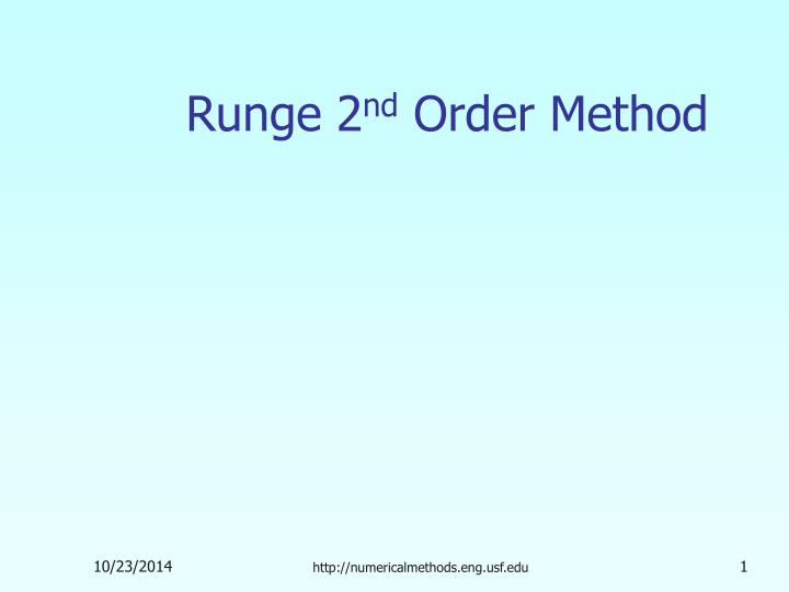 runge 2 nd order method n.