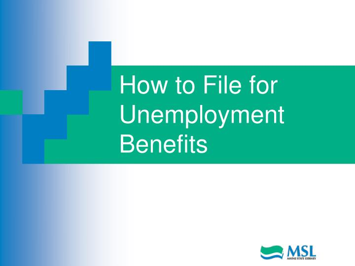 how to file for unemployment benefits n.