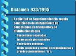dictamen 933 1995