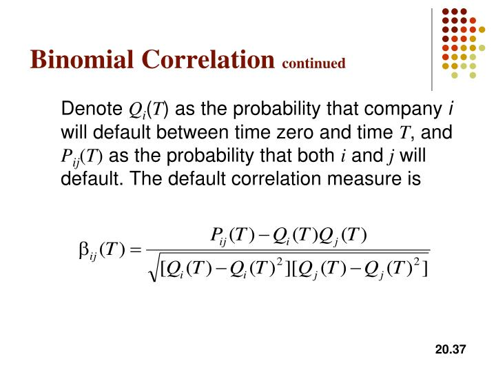 Binomial Correlation
