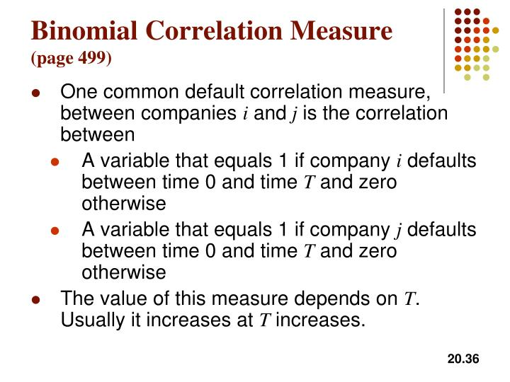 Binomial Correlation Measure