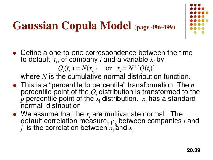 Gaussian Copula Model