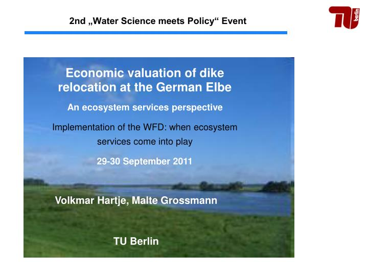 2nd water science meets policy event n.