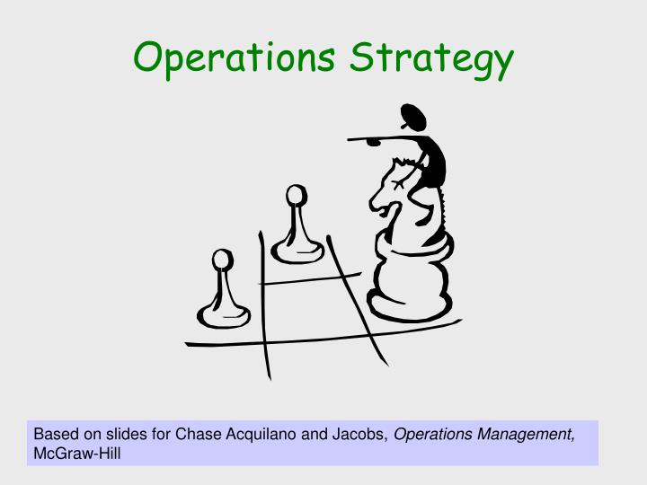 operations strategy n.