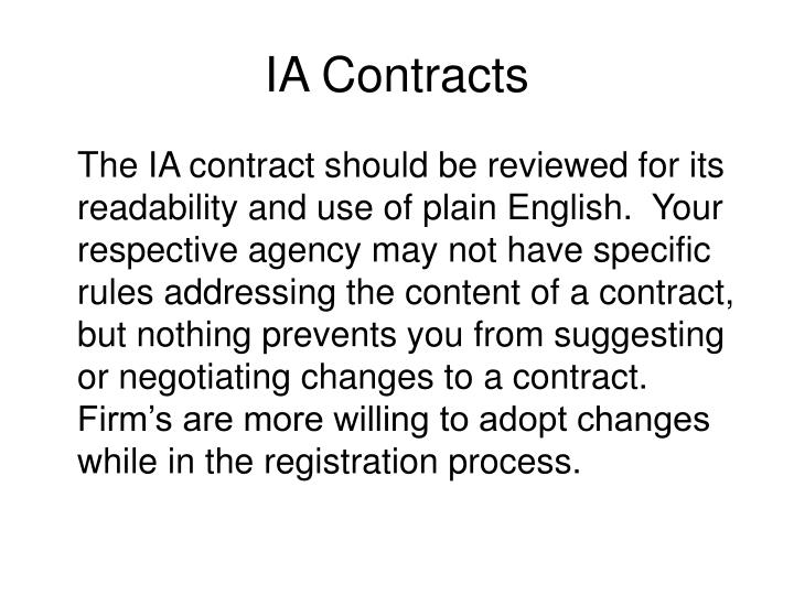 Ia contracts1