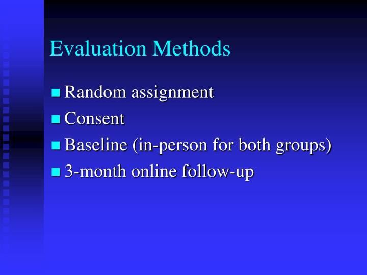 Evaluation Methods