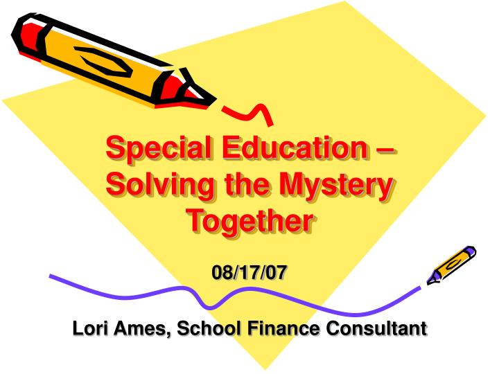 special education solving the mystery together n.