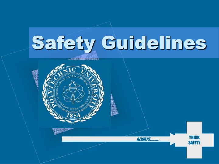 safety guidelines n.