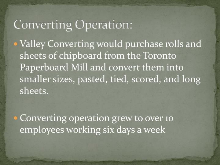 Converting operation