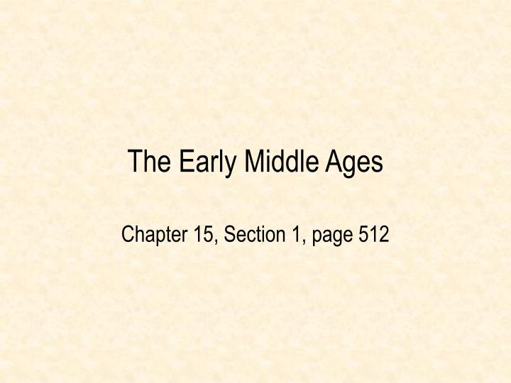 the early middle ages n.