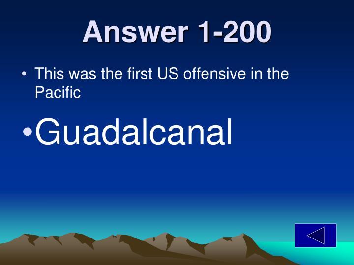 Answer 1-200