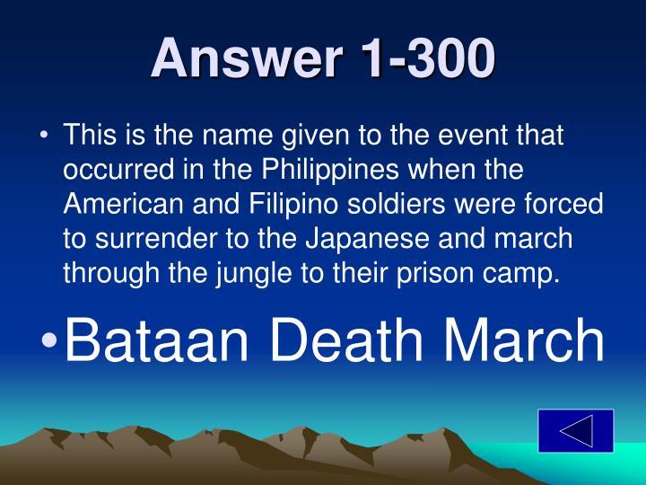 Answer 1-300