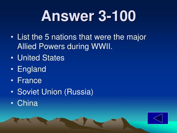 Answer 3-100
