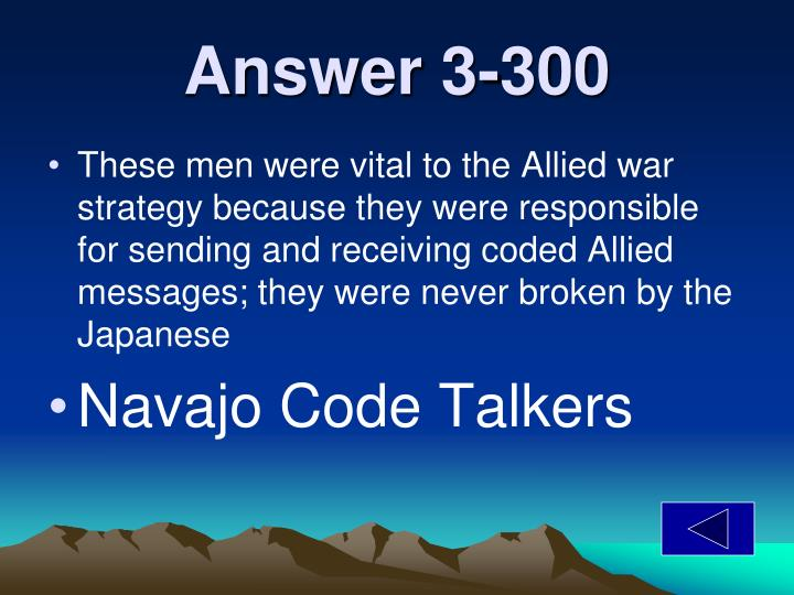 Answer 3-300