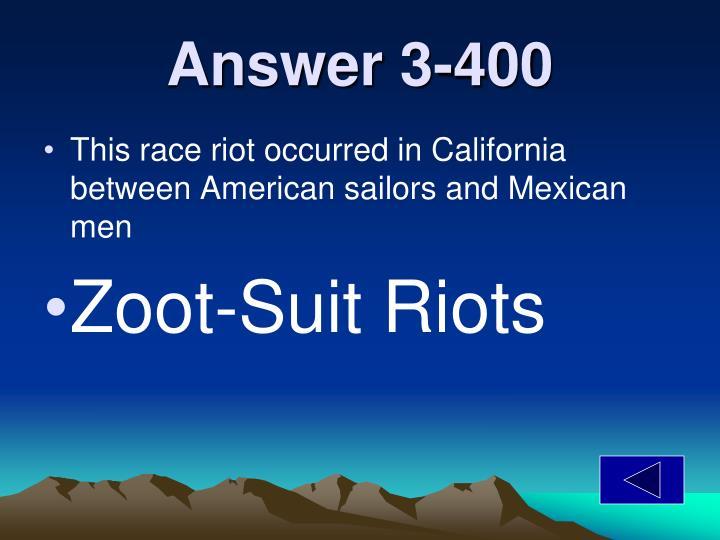 Answer 3-400