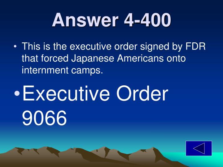 Answer 4-400
