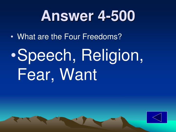 Answer 4-500