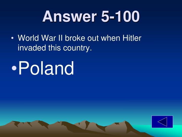 Answer 5-100