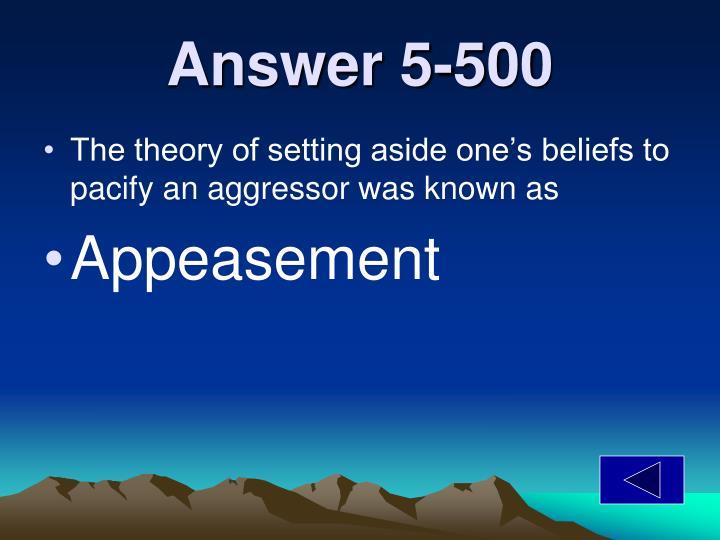 Answer 5-500