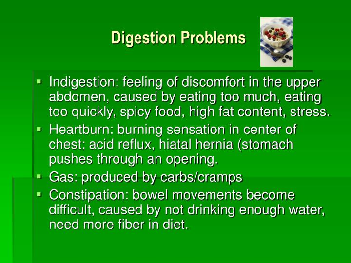 Digestion Problems