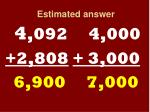 estimated answer12