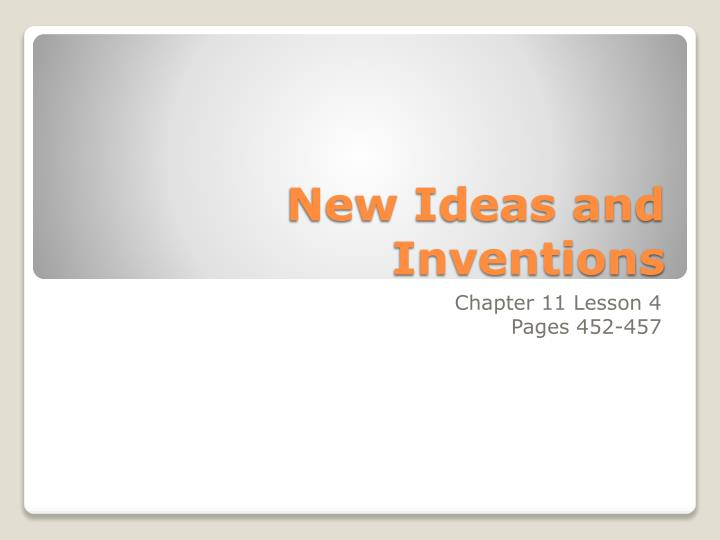 new ideas and inventions n.