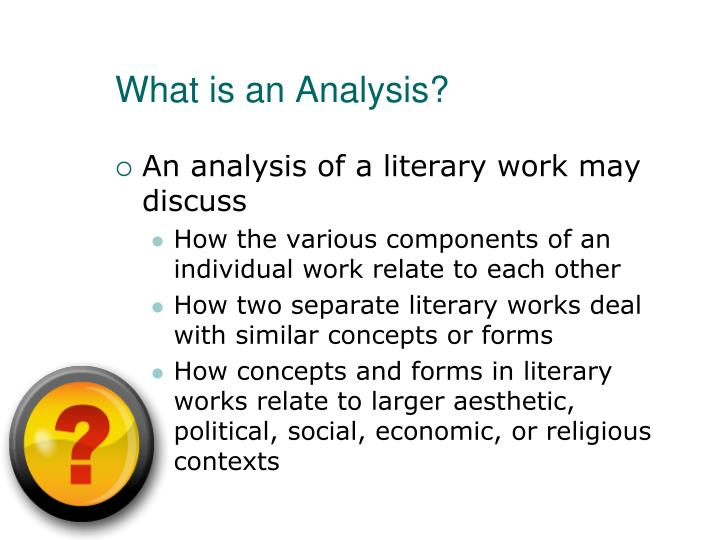Ppt  Literary Analysis Powerpoint Presentation  Id