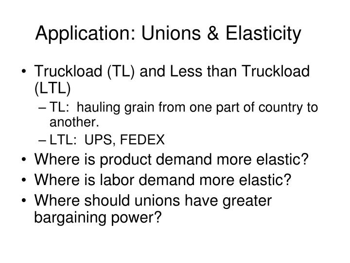 Application: Unions & Elasticity