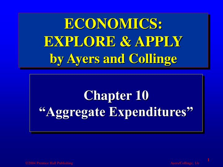 Chapter 10 aggregate expenditures