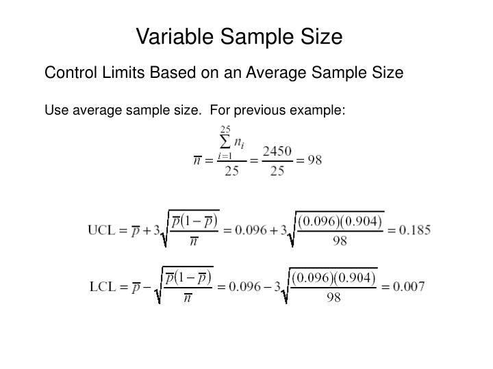 Variable Sample Size