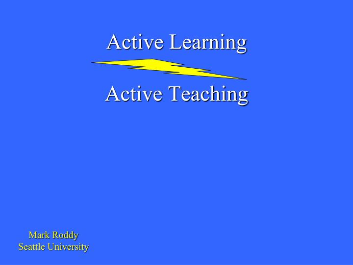active learning active teaching n.
