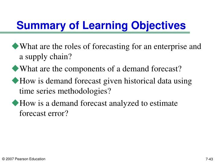 chapter 1 summary and learning objective