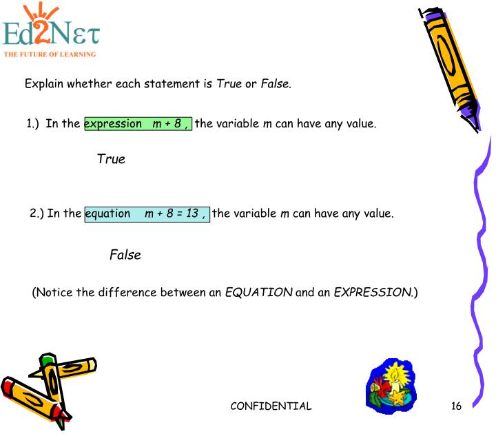 Explain whether each statement is