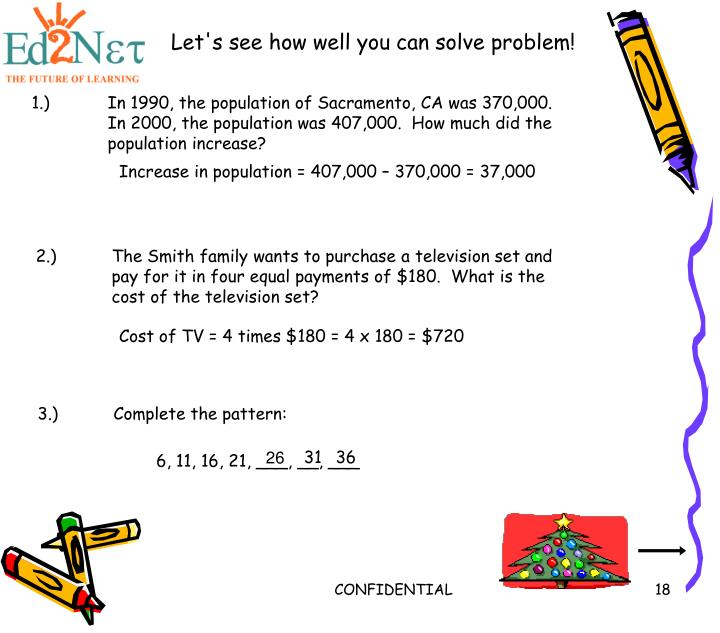 Let's see how well you can solve problem!
