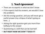 1 teach ignorance