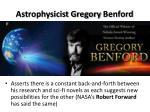 astrophysicist gregory benford
