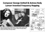 composer george antheil actress hedy lamarr invented frequency hopping
