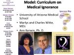 model curriculum on medical ignorance