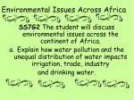 environmental issues across africa
