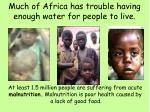much of africa has trouble having enough water for people to live