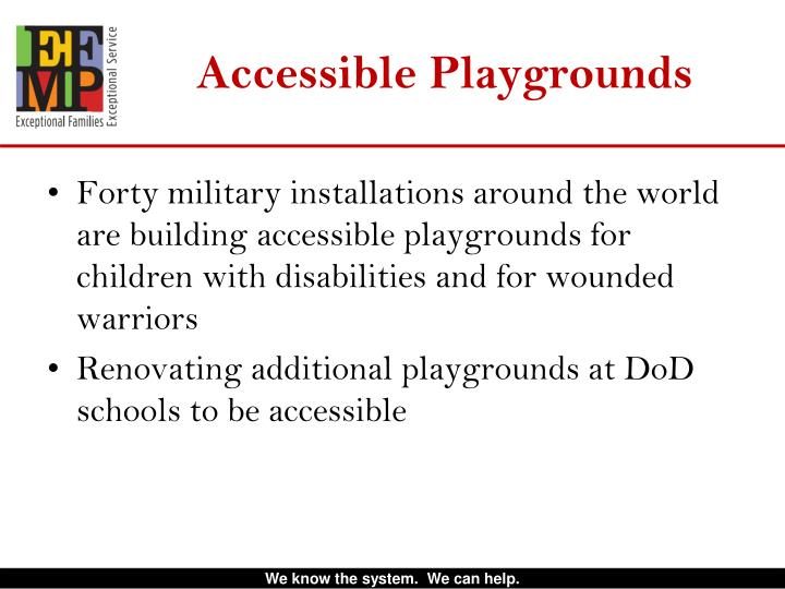 Accessible Playgrounds