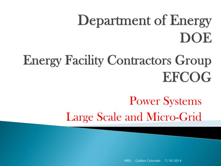 department of energy doe energy facility contractors group efcog n.